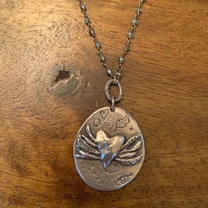 Jes Maharry necklace winged heart